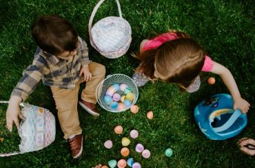 Easter Monday egg hunting
