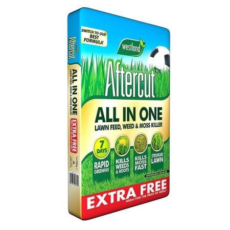 Aftercut All In One Lawn Feed & Moss Killer 400Sqm Plus 10% Extra Free (440 Sqm)