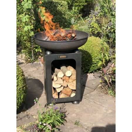 Firebowl with Log Store 60