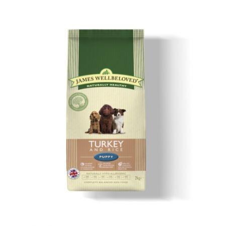 James Wellbeloved Turkey And Rice Puppy Dog Food 2Kg
